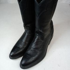 Abilene Cowhide Mens Boots Medium Toe 6401 Black 1